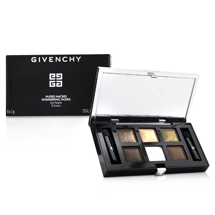 Givenchy Nudes Nacres Shimmering Nudes Eye Palette (6x Eyeshadow, 2x Applicatior) 6g
