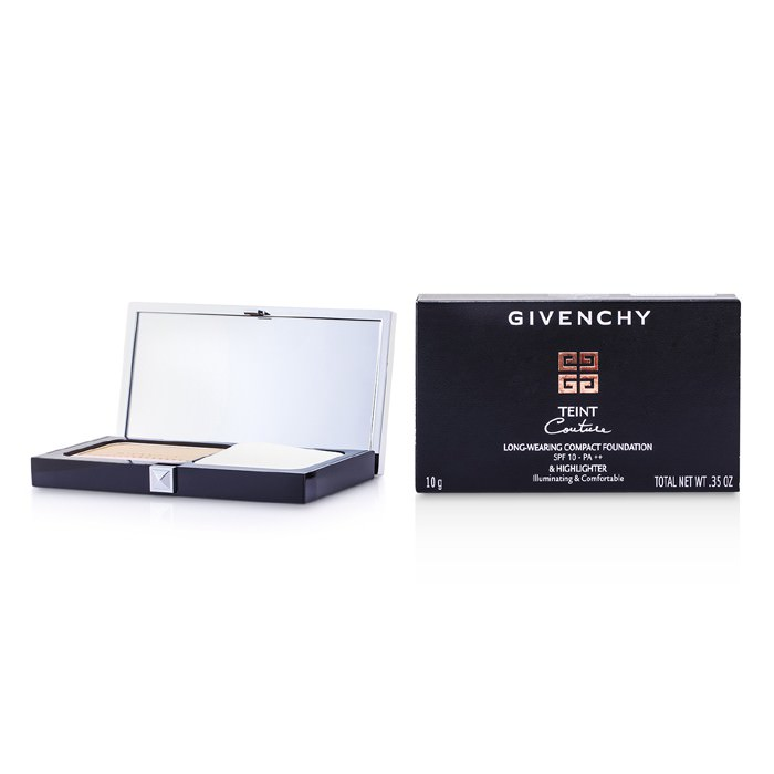 Givenchy Teint Couture Long Wear Compact Foundation & Highlighter SPF10 - # 4 Elegant Beige 10g