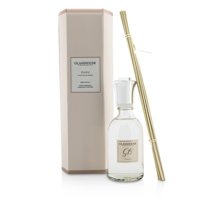 Glasshouse Triple Strength Fragrance Diffuser - Oahu (Ilima Milk & Honey) 250ml