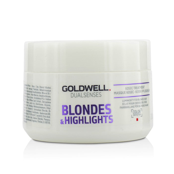 Goldwell Dual Senses Blondes & Highlights 60SEC Treatment (Luminosity For Blonde Hair) 200ml
