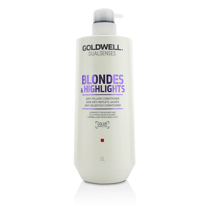 Goldwell Dual Senses Blondes & Highlights Anti-Yellow Conditioner (Luminosity For Blonde Hair) 1000ml