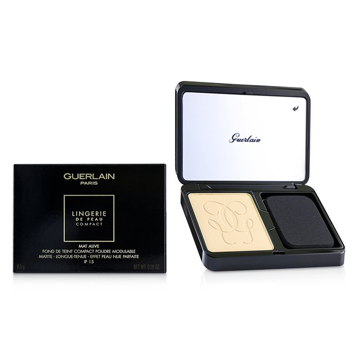 Guerlain Lingerie De Peau Mat Alive Buildable Compact Powder Foundation SPF 15 - # 03N Natural 8.5g