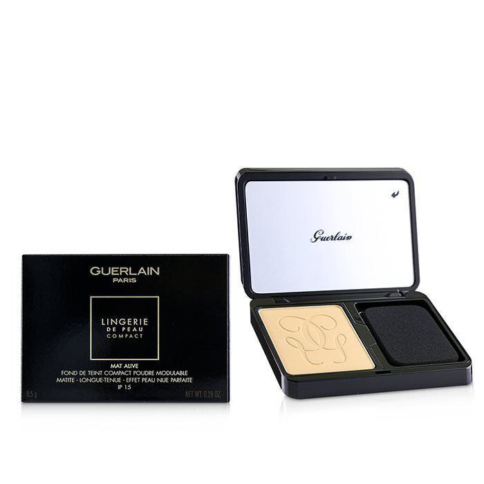 Guerlain Lingerie De Peau Mat Alive Buildable Compact Powder Foundation SPF 15 - # 04N Medium 8.5g