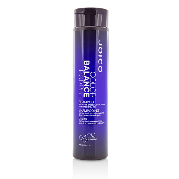 Joico Color Balance Purple Shampoo (Eliminates Brassy/Yellow Tones on Blonde/Gray Hair) 300ml