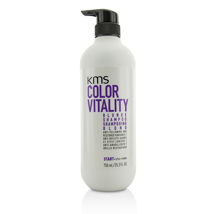 KMS California Color Vitality Blonde Shampoo (Anti-Yellowing and Restored Radiance) 750ml
