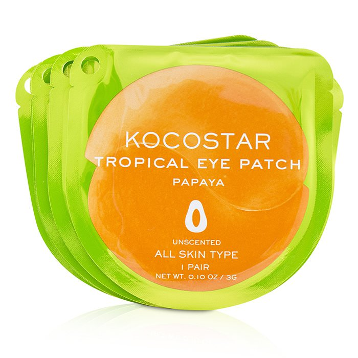 KOCOSTAR Tropical Eye Patch Unscented - Papaya (Individually packed) 10pairs