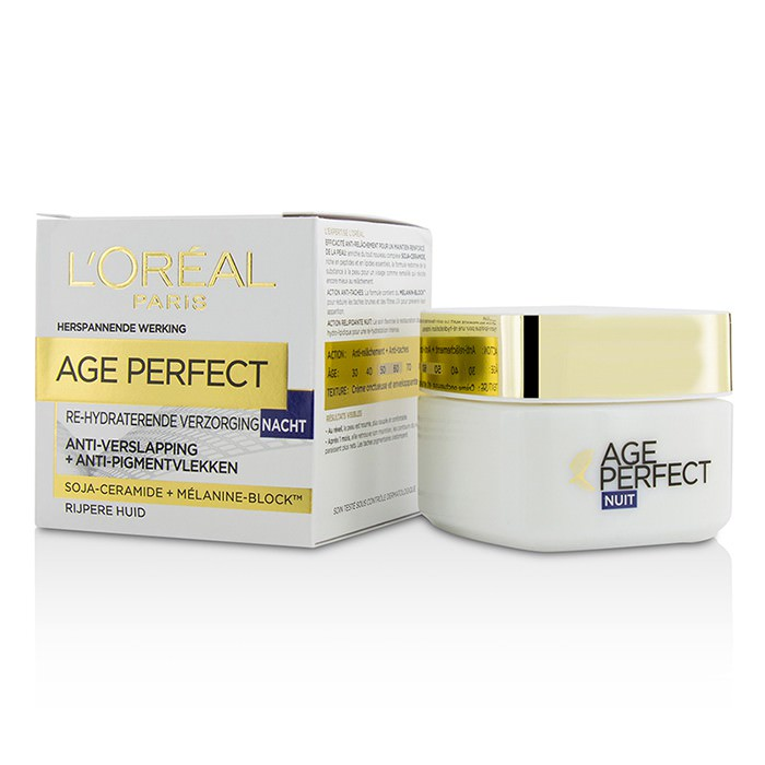 L'Oreal Age Perfect Re-Hydrating Night Cream - For Mature Skin 50ml