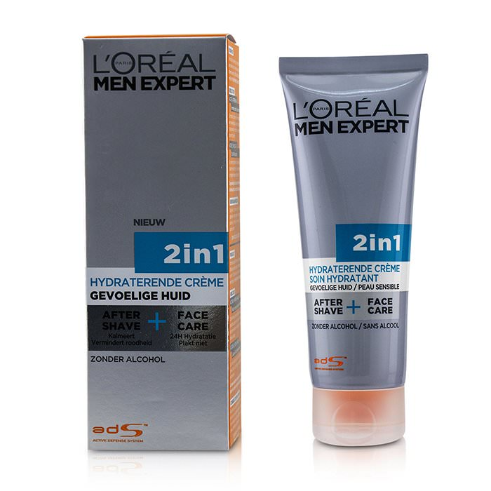 L'Oreal Men Expert Face Creme 2-in-1 After Shave + Face Care 75ml