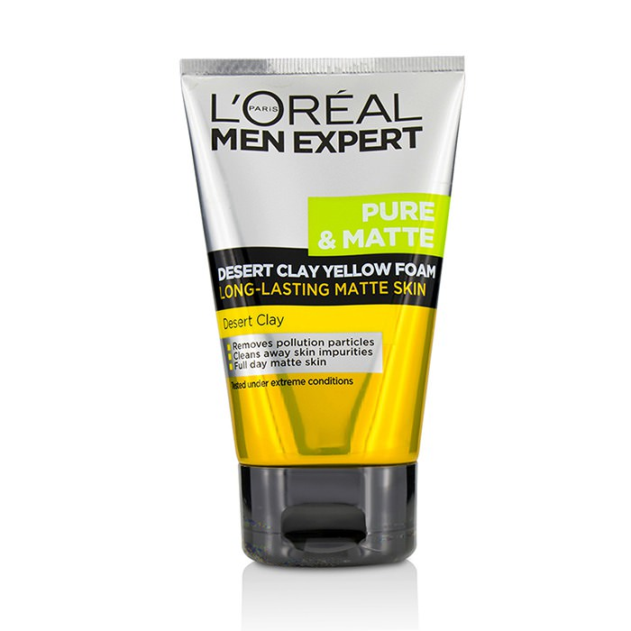 L'Oreal Men Expert Pure & Matte Desert Clay Yellow Foam 100ml