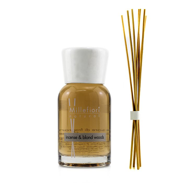 Millefiori Natural Fragrance Diffuser - Incense & Blond Woods 100ml