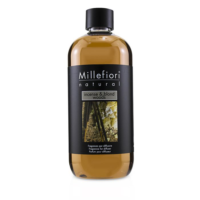 Millefiori Natural Fragrance Diffuser Refill - Incense & Blond Woods 500ml