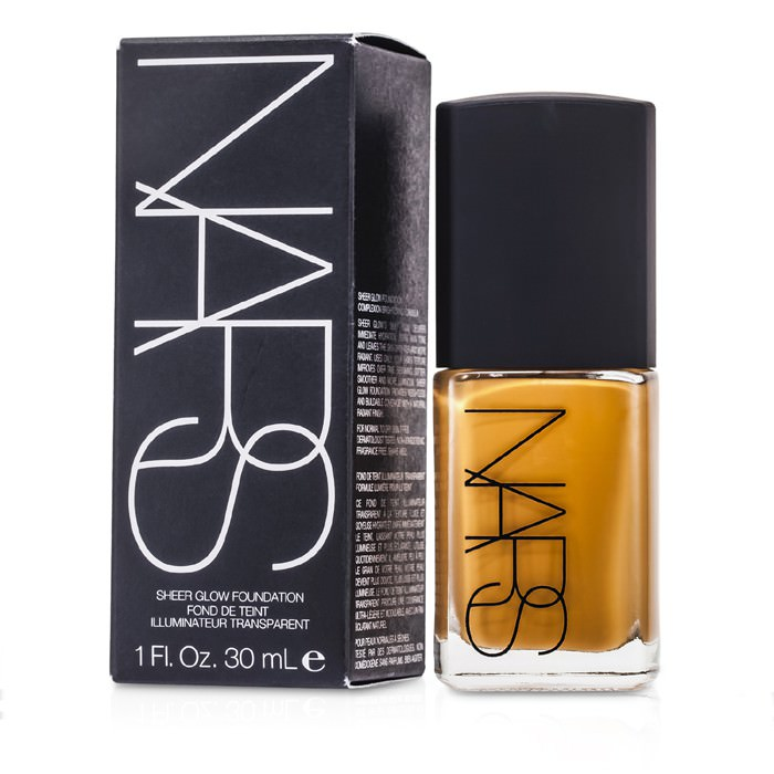 NARS Sheer Glow Foundation - Tahoe (Medium-Dark 2 - Medium-Dark w/ Caramel Undertone) 30ml