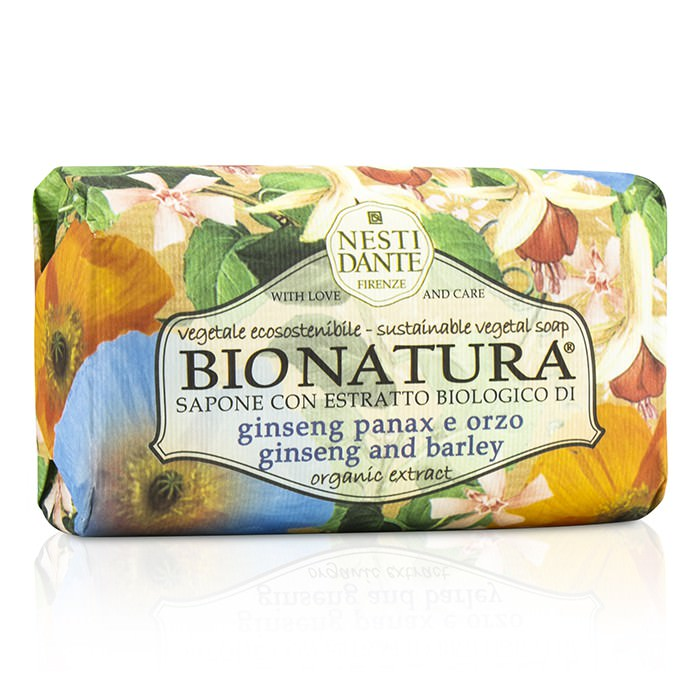 Nesti Dante Bio Natura Sustainable Vegetal Soap - Ginseng & Barley 250g