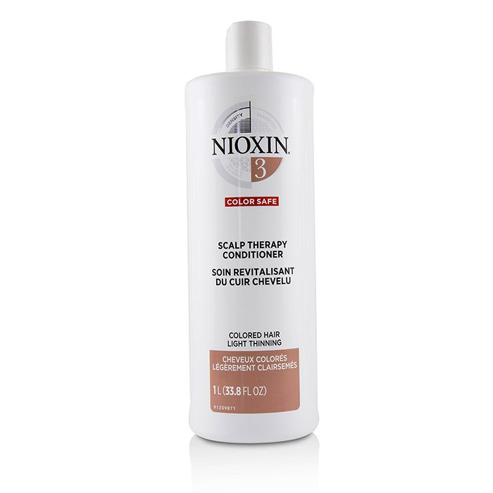 Nioxin Density System 3 Scalp Therapy Conditioner (Colored Hair, Light Thinning, Color Safe) 1000ml