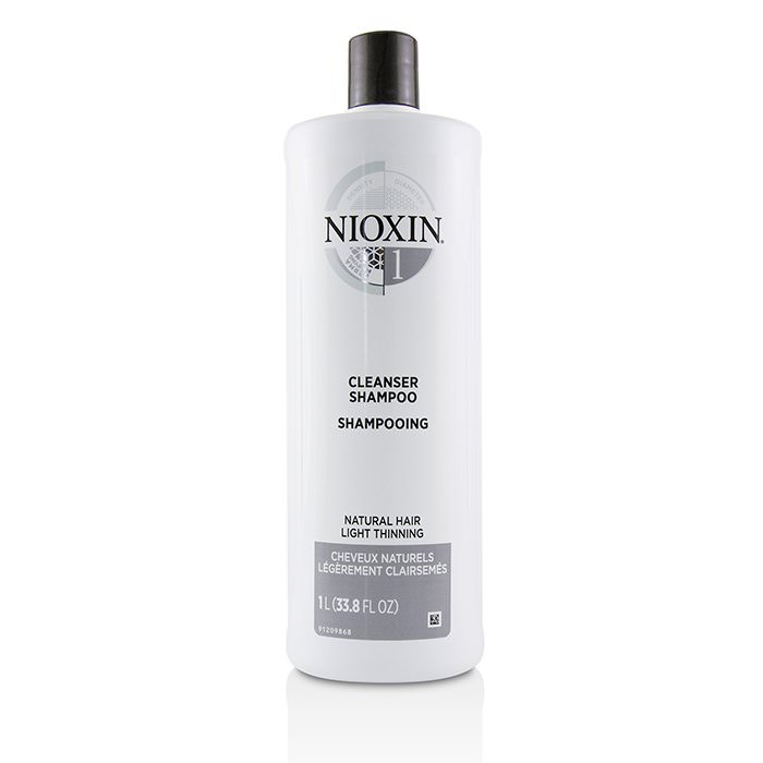 Nioxin Derma Purifying System 1 Cleanser Shampoo (Natural Hair, Light Thinning) 1000ml