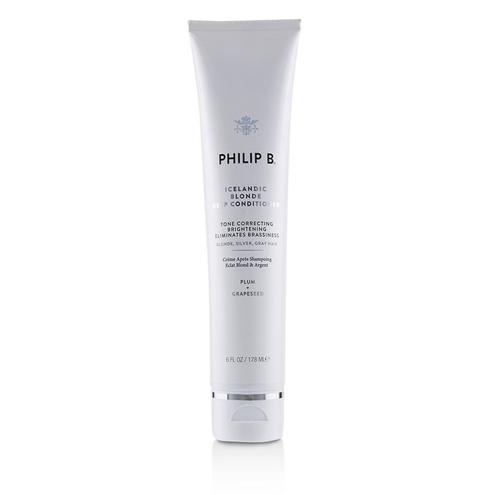 Philip B Icelandic Blonde Deep Conditioner (Tone Correcting Brightening Eliminates Brassiness - Blonde, Gray, Silver Hair) 178ml