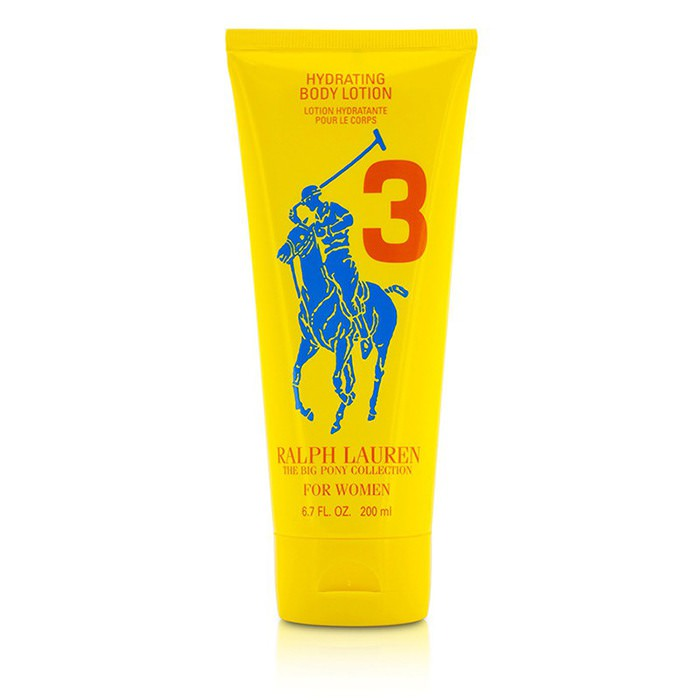 Ralph Lauren Big Pony Collection For Women #3 Yellow Hydrating Body Lotion (Unboxed) 200ml