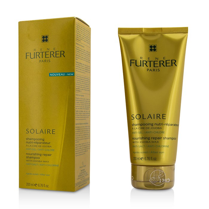 Rene Furterer Solaire Nourishing Repair Shampoo with Jojoba Wax - After Sun 200ml