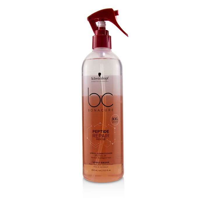 Schwarzkopf BC Bonacure Peptide Repair Rescue Spray Conditioner (For Fine to Normal Damaged Hair) 400ml