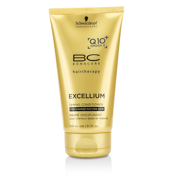Schwarzkopf BC Excellium Q10+ Omega 3 Taming Conditioner (For Coarse Mature Hair) 150ml