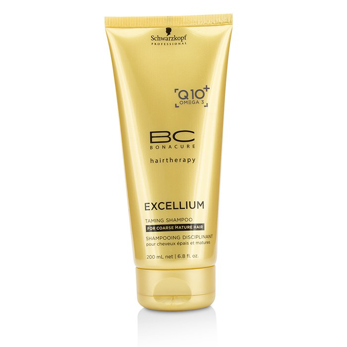 Schwarzkopf BC Excellium Q10+ Omega 3 Taming Shampoo (For Coarse Mature Hair) 200ml