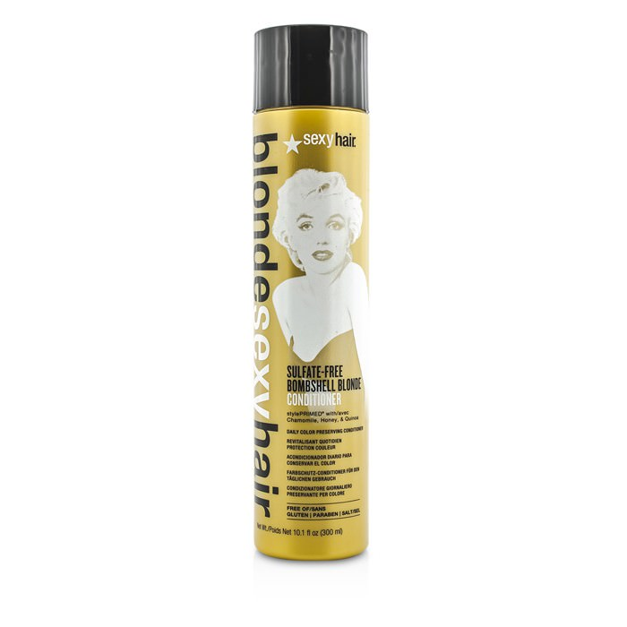 Sexy Hair Concepts Blonde Sexy Hair Sulfate-Free Bombshell Blonde Conditioner (Daily Color Preserving) 300ml