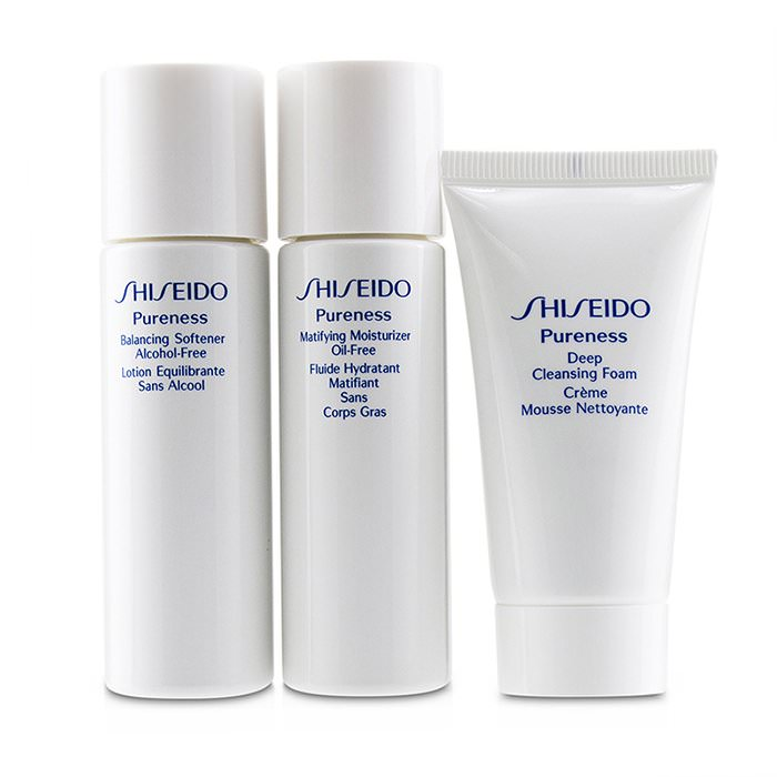 Shiseido Pureness Simple Start For Oil-Control Set: Deep Cleansing Foam + Balancing Softener + Matifying Moisturizer Oil-Free 3pcs