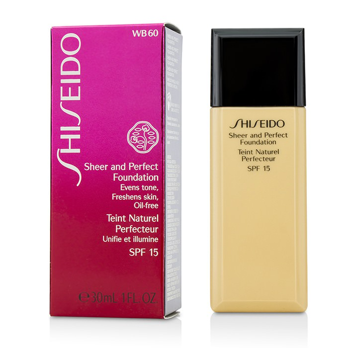 Shiseido Sheer & Perfect Foundation SPF 15 - # WB60 Natural Deep Warm Beige 30ml