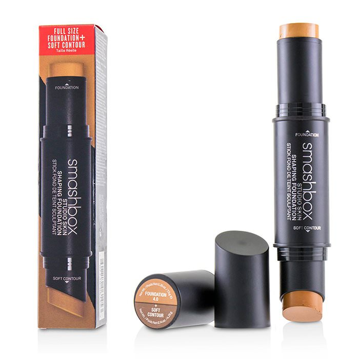 Smashbox Studio Skin Shaping Foundation + Soft Contour Stick - # 4.0 Golden Tan 11.75g