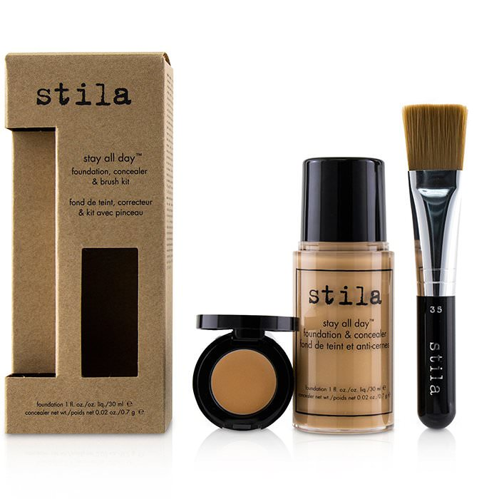 Stila Stay All Day Foundation, Concealer & Brush Kit - # 5 Hue 2pcs