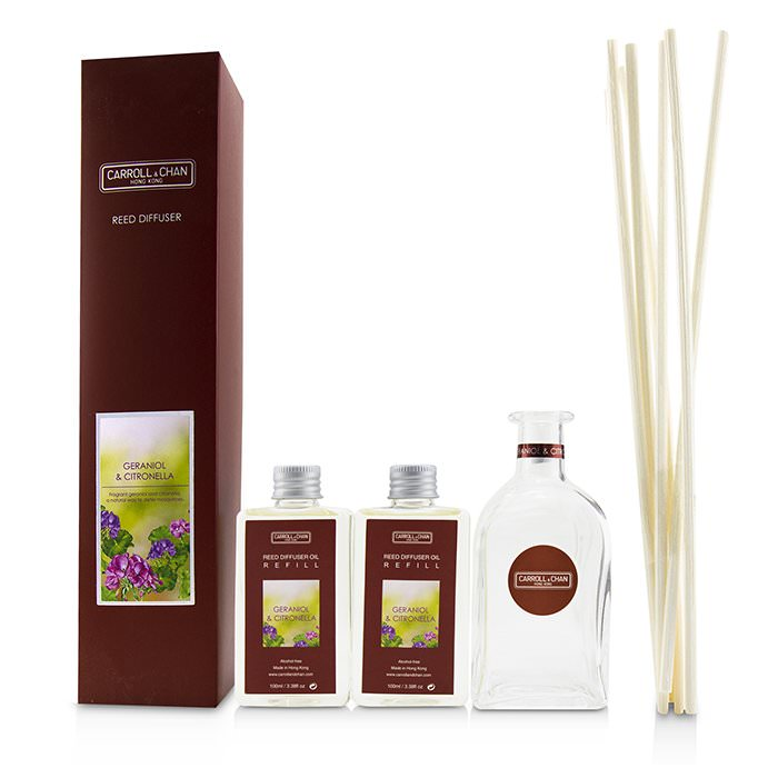 The Candle Company (Carroll & Chan) Reed Diffuser - Geraniol & Citronella 200ml