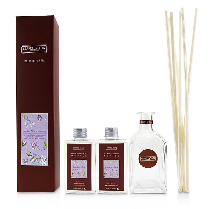 The Candle Company (Carroll & Chan) Reed Diffuser - Jasmine, Rose & Cranberry 200ml