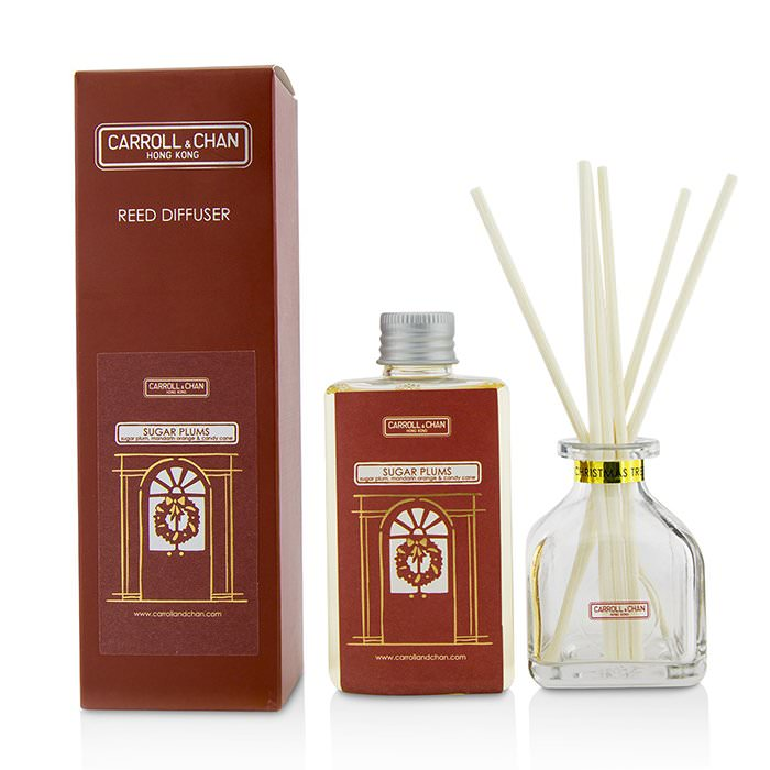 The Candle Company (Carroll & Chan) Reed Diffuser - Sugar Plums (Sugar Plum, Mandarin Orange & Candy Cane) 100ml