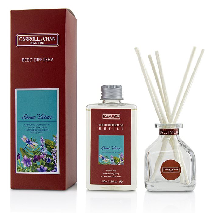 The Candle Company (Carroll & Chan) Reed Diffuser - Sweet Violets 100ml