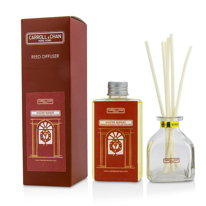 The Candle Company (Carroll & Chan) Reed Diffuser - Winter Berries (Redcurrants, Blackcurrants, Violets & Lily Of The Valley) 100ml