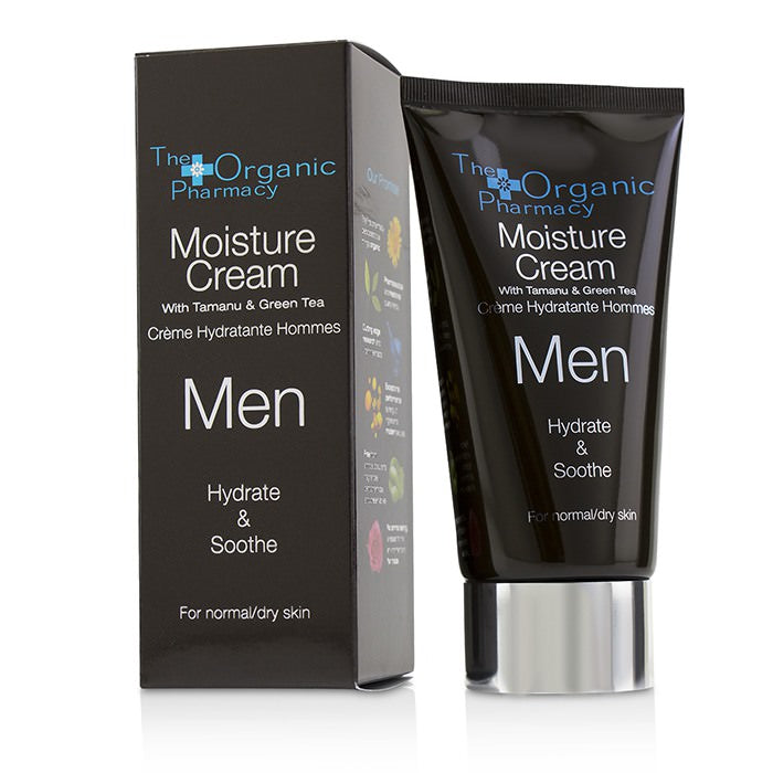The Organic Pharmacy Men Moisture Cream - Hydrate & Soothe - For Normal & Dry Skin 75ml
