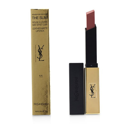 Yves Saint Laurent Rouge Pur Couture The Slim Leather Matte Lipstick - # 11 Ambiguous Beige 2.2g