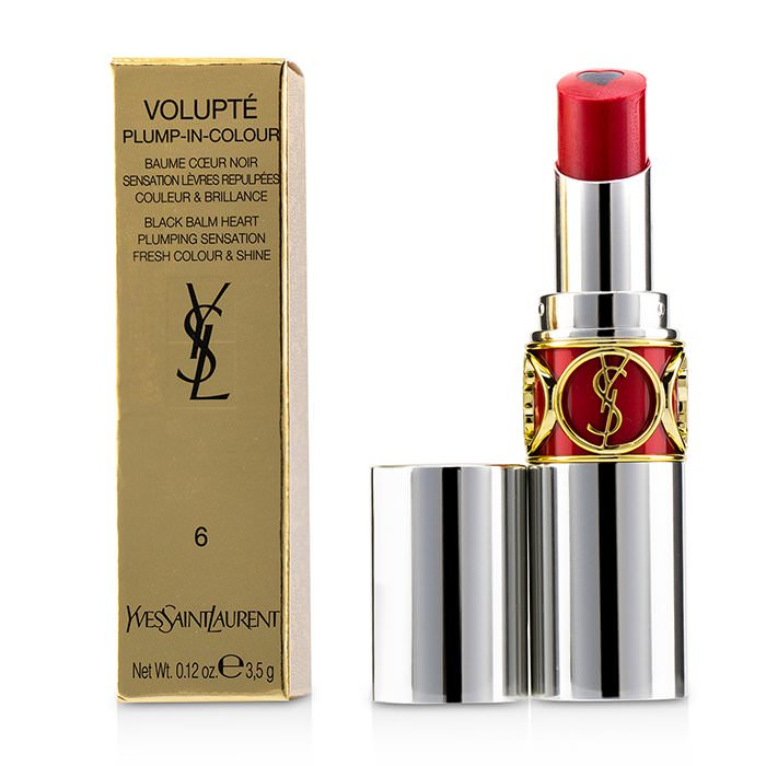 Yves Saint Laurent Volupt Plump In Colour Lip Balm - # 06 Lunatic Red (Blue Red) 3.5g