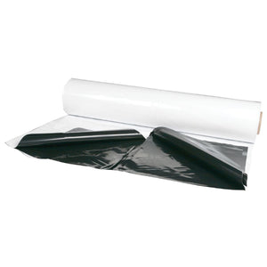 Black and White 6 Mil Poly Film - 50'