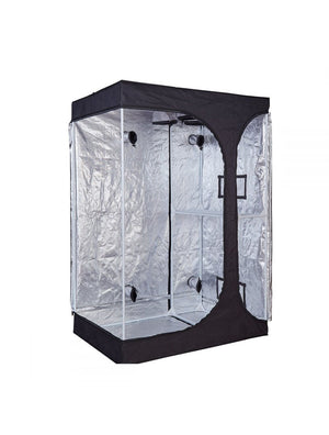 5' x 4' x 6.5' Fusion Hut 600D Dual Chamber 2-in-1 Grow Tent