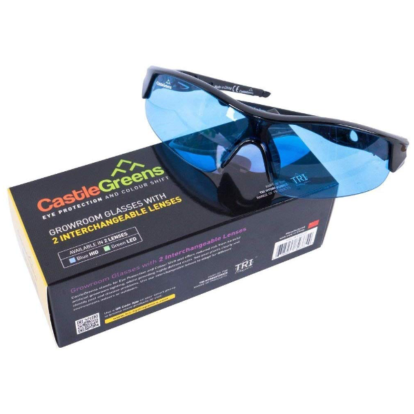 Grow room safety glasses
