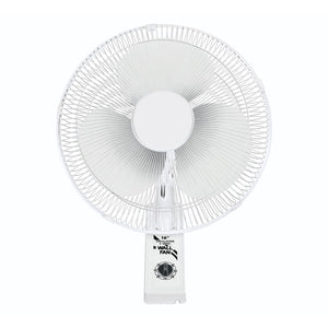 "WindMaker 16"" Wall-Mount Oscillating 3-Speed Fan 120V 60W"