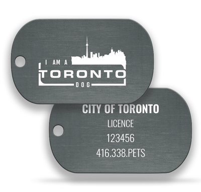 Toronto Dog Grey Pair: New Licence - DawgTag