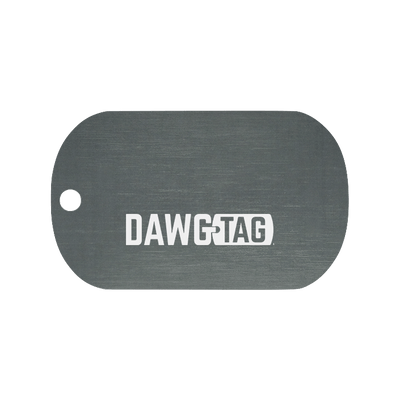 Gun Metal Grey: Single Tag - DawgTag