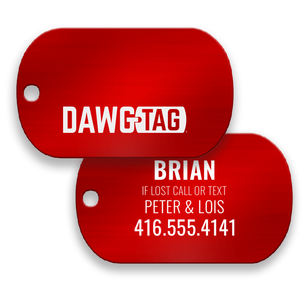 Red Rover Pair of Tags - DawgTag
