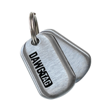 DawgTag Brushed Steel: Pair of Tags