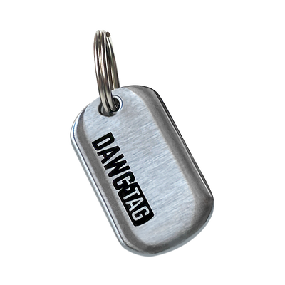 DawgTag Brushed Steel: Single Tag