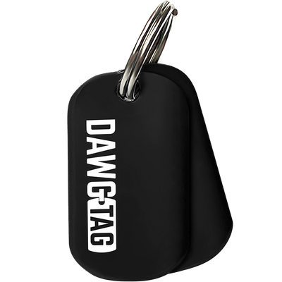 Jet Black DawgTag: Pair of Tags