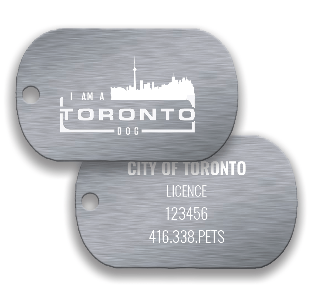 Toronto Dog Silver Pair: Existing Licence - DawgTag - Existing Licence
