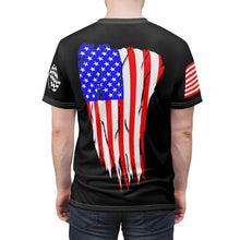 Load image into Gallery viewer, American Badass Flag Back Unisex Tee